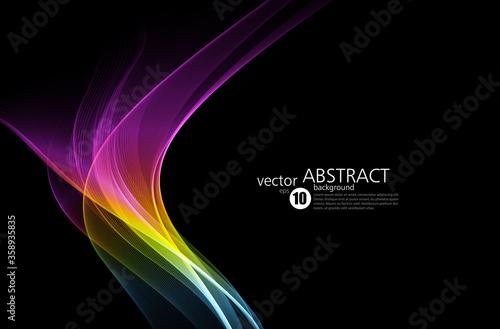 Abstract shiny color spectrum wave design element Fototapet