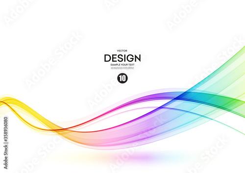 фотография Abstract shiny color spectrum wave design element