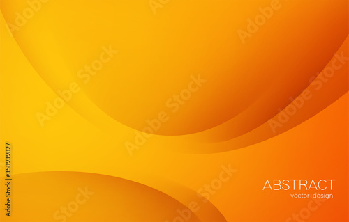 Foto Abstract colorful vector background, orange color banner with smooth line and shadow