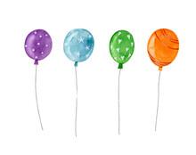 Set Of Color Balloons. Violet ...