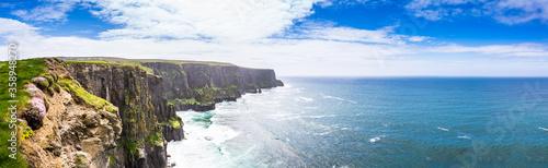 Obraz Panorama in Irland, Meer, Ozean, Küste, Atlantik, Klippen, Felsen, Landschaft, Natur / Sea, Ocean, Coast, Atlantic, Cliffs, Rock, Landscape, Nature, Ireland  - fototapety do salonu