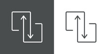 Concepto Compartir Datos. Icon...