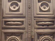 The Huge Closed Door Of The Fr...