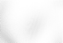 Abstract Halftone Wave Dotted ...