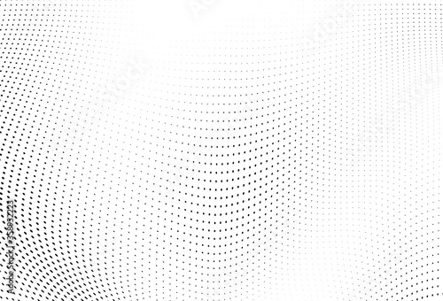 Abstract halftone wave dotted background Tapéta, Fotótapéta