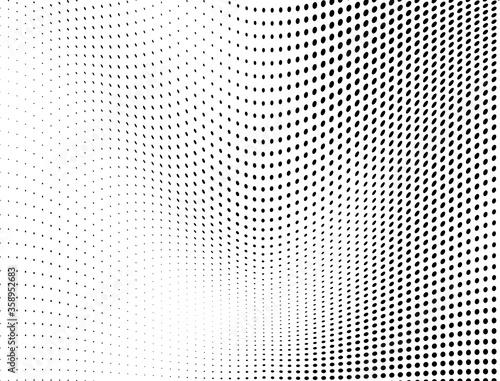 Vászonkép Abstract halftone wave dotted background
