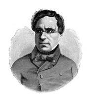 Engraving Portrait Of Francesco Domenico Guerrazzi ( 1804 - 1873) Italian Writer And Politician Involved In The Italian Risorgimento, Idealist