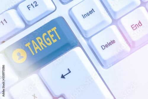 Photo Word writing text Target