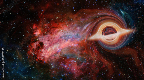 Photo Black hole system. Elements of this image furnished by NASA