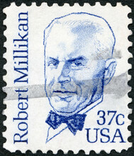 USA - 1980: Shows Portrait Robert Andrews Millikan (1868-1953), Great Americans, 1980