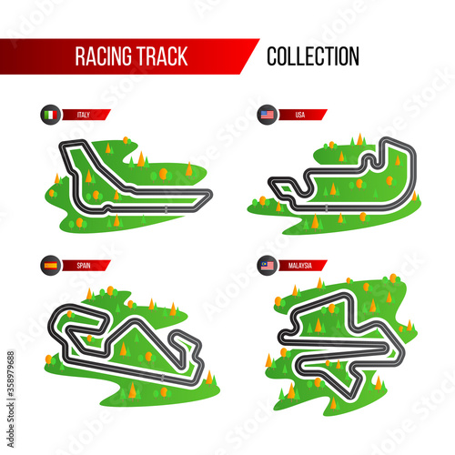 Valokuva set of grand prix race track