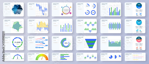 Modern multipurpose Infographics Templates. Admin panel interface great charts, graphs and diagrams. Bundle infographic elements data visualization vector design template.Can be used for presentations