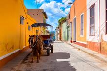 Horse Carriage In Trinidad, Cuba. UNESCO World Heritage