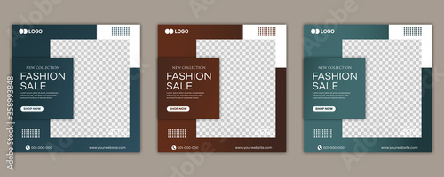 Foto Fashion sale social media post template