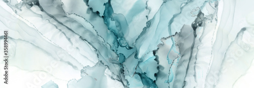 Obraz Art Abstract paint blots background. Alcohol ink colors. Marble - fototapety do salonu