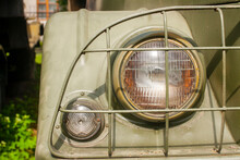 Headlight Of An Old Military T...