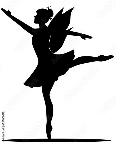 fairy ballerina in ballet pose Fototapeta