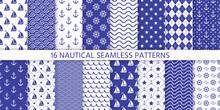 Nautical Seamless Pattern. Sea...