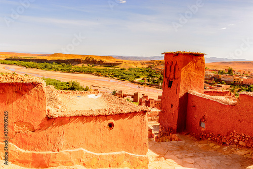 Stampa su Tela It's Part of Kasr of Ait Benhaddou, a fortified city, the former caravan way from Sahara to Marrakech