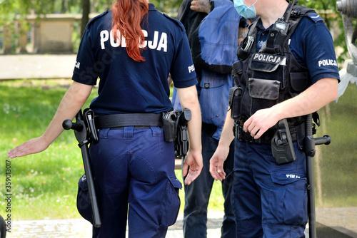 Fototapeta Policja- interwencja. obraz