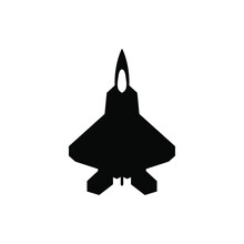 American Fighter F-22 Raptor Vector Icon.