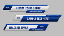 Stylish Blue Geometric Lower Third Banner Template Design