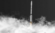 Rocket Flyes Through Thick Smo...