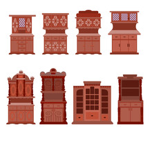 A Set Of Antique Cabinets.Coll...