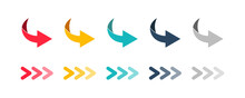 Arrow Set Icon. Colored Arrow ...
