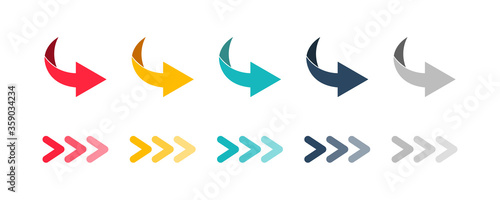 Fotografia Arrow set icon