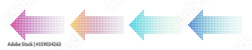 Photo Dotted arrow gradient design