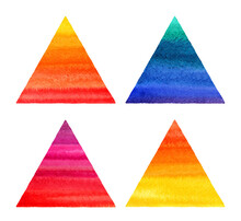 Colorful Watercolor Triangles ...