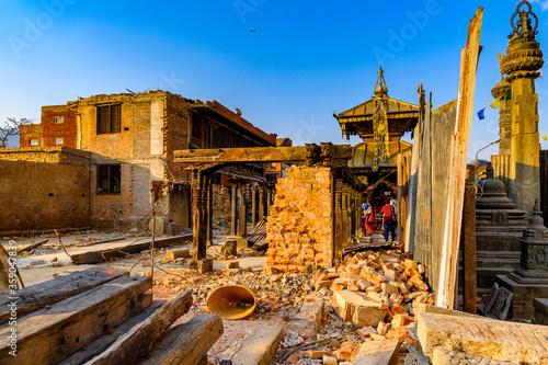 Photo Swayambhunath (Swayambu or Swoyambhu), an ancient religious architecture atop a
