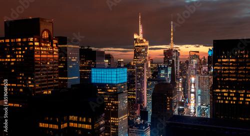 Fotomural Times Square, Midtown Manhattan, New York skyline at night
