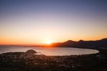 Sunrise Over Calvi Bay And Cit...