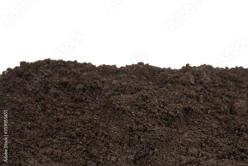 Fototapeta Black land for plant background. obraz