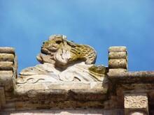 Sculpted Mermaid (17th Century) On The Arch Of The Santa Barbara Church - Ilave (Lake Titicaca, Peru)