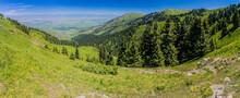 Mountains And Kerege Tash Village Near Karakol, Kyrgyzstan