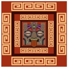 Ancient Mayan Mask, Ancient Patterns