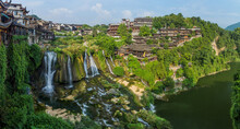 View Of Furong Zhen Town And W...