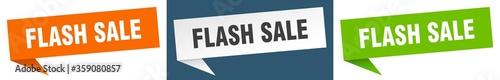 Obraz flash sale banner. flash sale speech bubble label set. flash sale sign - fototapety do salonu