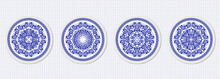Set Of Four Plates With A Styl...