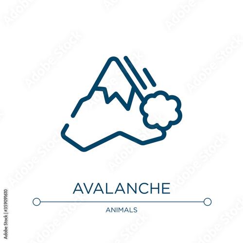 Avalanche icon Fototapete