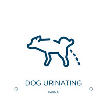 Dog Urinating Icon. Linear Vector Illustration From Dog And Training Collection. Outline Dog Urinating Icon Vector. Thin Line Symbol For Use On Web And Mobile Apps, Logo, Print Media.
