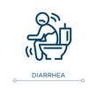 Diarrhea icon. Linear vector illustration. Outline diarrhea icon vector. Thin line symbol for use on web and mobile apps, logo, print media.