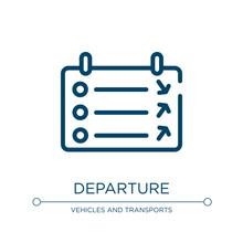 Departure Icon. Linear Vector ...