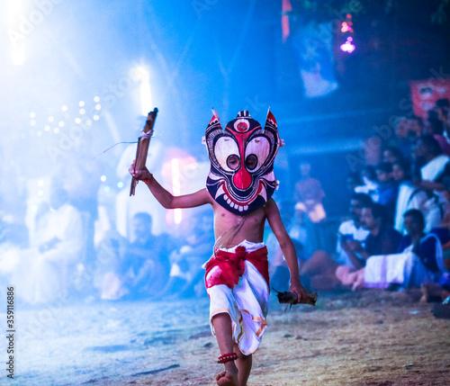 Photo Kerala Art Form _ Padayani_Child dance Goddess