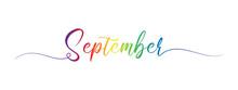 September Letter Calligraphy B...