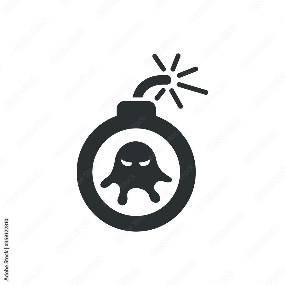 Fototapeta Virus bomb icon