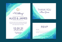 Wedding Cards, Invitation. Save The Date Sea Style Design. Romantic Beach Wedding Summer Background